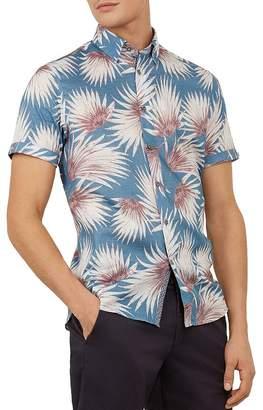 9641d6304 Ted Baker Hedgeog Palm Print Slim Fit Shirt