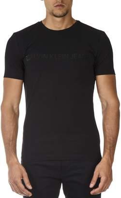 Calvin Klein Black Elastic Cotton T-shirt