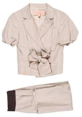 Giambattista Valli Notch-Lapel Midi Skirt Suit