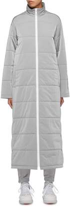 Alexander Wang Reflective logo stripe print maxi puffer coat