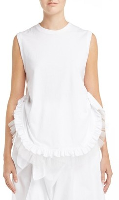Women's Simone Rocha Knotted Frill Tee $205 thestylecure.com