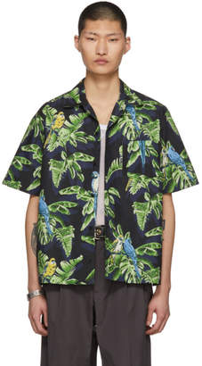 Stella McCartney Black Short Sleeve Ron Parrot Shirt