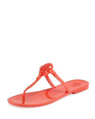 Tory Burch Colori Logo Jelly Thong Sandal, Poppy Red $95 thestylecure.com