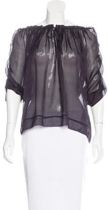 Marc by Marc Jacobs Short Sleeve Silk Blouse $65 thestylecure.com