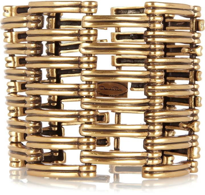 Oscar de la Renta 24-karat gold-plated cuff