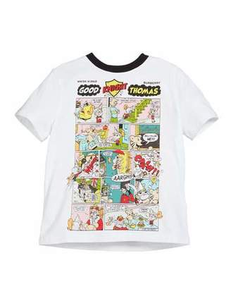 Burberry Comic Strip Graphic Short-Sleeve Tee, Size 4-14