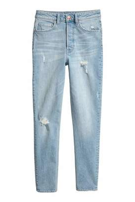 H&M Vintage Skinny High Jeans - Light denim blue - Women
