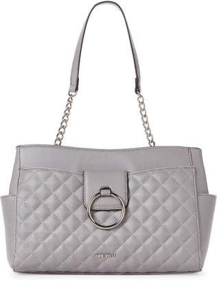 Nine West Light Grey Jadwiga Satchel