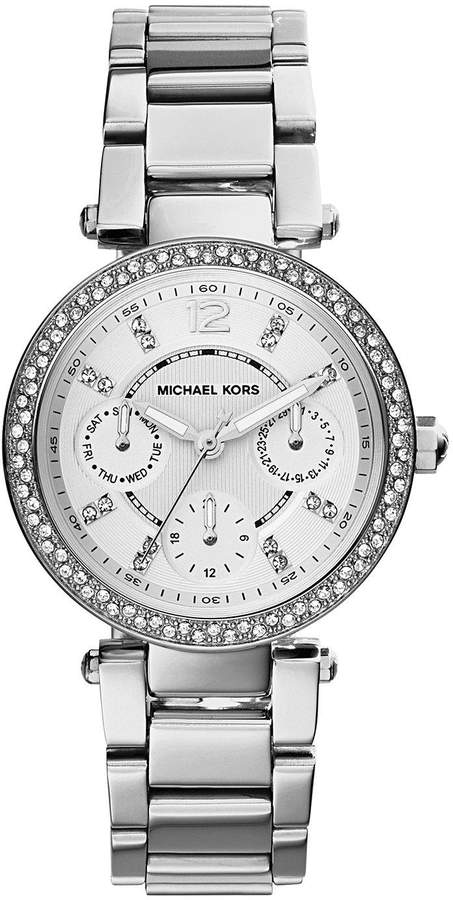 MICHAEL KORS MK5615 Mini Parker Silver Tone Chronograph Ladies Watch