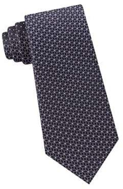 MICHAEL Michael Kors Geo-Print Woven Silk Tie