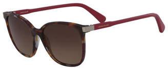 Longchamp Square High-Temple Sunglasses