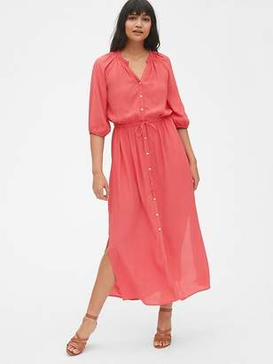 Gap Tie-Waist Maxi Shirtdress