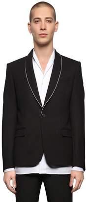 The Kooples Wool Twill Jacket W/ Skull Pin