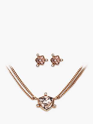 dc8e951f1433 Dyrberg Kern Swarovski Crystal Stud Earrings and Pendant Necklace Jewellery  Set