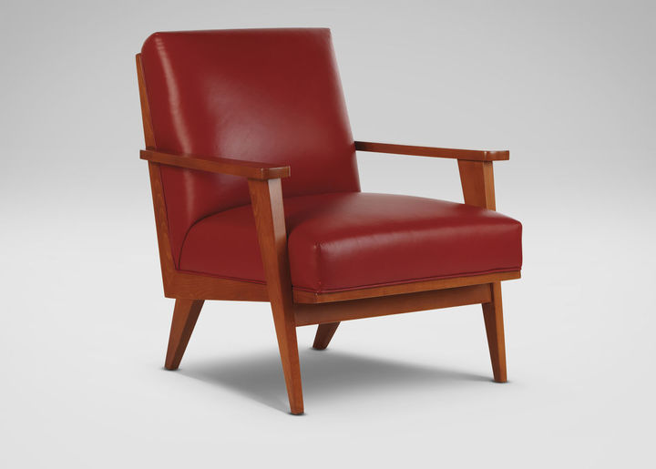 Ethan Allen Ryder Leather Chair
