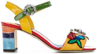 Dolce & Gabbana embroidered sandals