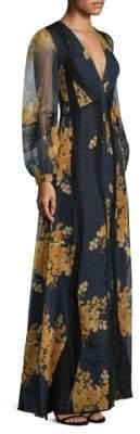 Sachin + Babi Mumbai Bishop-Sleeve Maxi Dress