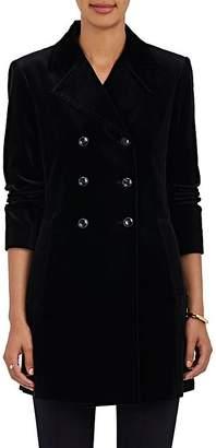 Frame Women's Cotton-Blend Velvet Double-Breasted Coat