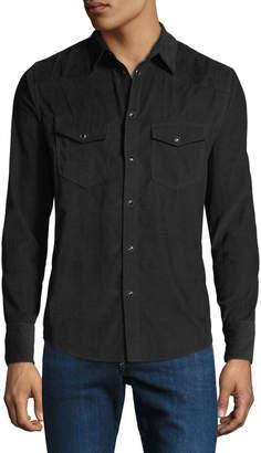 Rag & Bone Men's Beck Corduroy Western Shirt