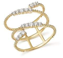 Bloomingdale's Diamond Beaded Swirl Ring in 14K Yellow Gold, .45 ct. t.w. - 100% Exclusive