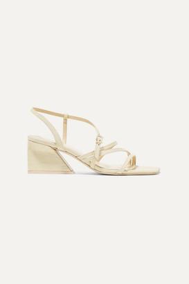 Mercedes Castillo Kelise Croc-effect Leather Sandals - Cream