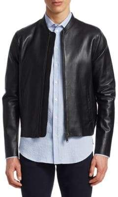 Emporio Armani Perforated Nappa Leather Bomber