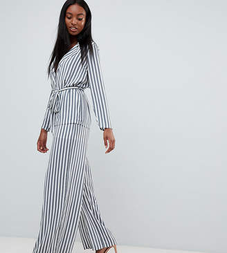 Missguided Tall Striped Wide Leg Pants