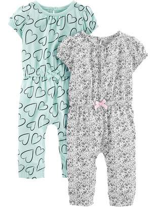 Carter's Simple Joys By Simple Joys by Girls' 2-Pack Fashion Jumpsuits