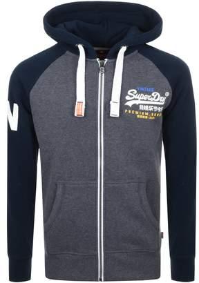 Superdry Premium Goods Full Zip Hoodie Grey