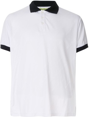 Versace tonal logo polo shirt