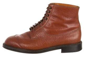 J.M. Weston Leather Ankle Boots