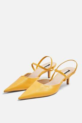 Topshop JAMMY Mustard Point Strappy Shoes