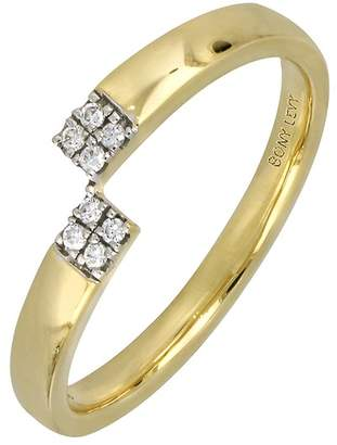 Bony Levy 18K Yellow Gold Diamond Asymmetrical Ring