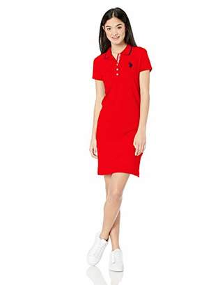 U.S. Polo Assn. Women's Classic Solid Polo Dress