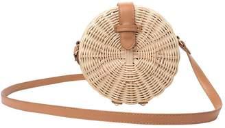 Round Weave Shoulder Bag, XGZ Women Rattan Basket Bag Hand Woven Bag, Straw Bag, Handmade Bag for Summer Outdoor Beach