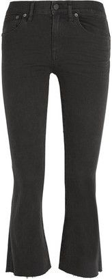 Madewell - Cali Demi Boot Cropped Mid-rise Jeans - Black $130 thestylecure.com