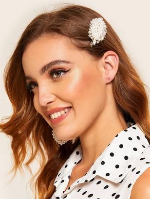 f50b7b68a0 Shein Faux Pearl & Bead Decor Hair Clip
