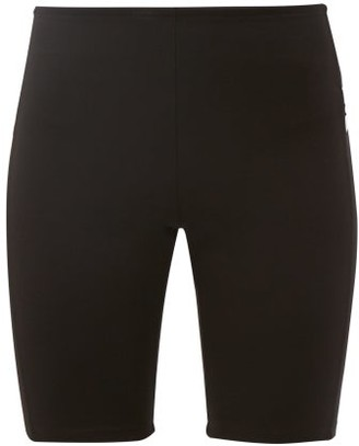Paco Rabanne Logo Intarsia Jersey Cycling Shorts - Womens - Black