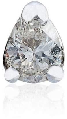 Leon Yvonne White gold diamond triangle stud earring