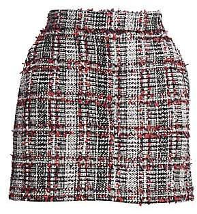 Thom Browne Women's Tweed Wool-Blend Mini Skirt