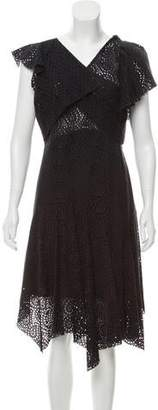 Isabel Marant Eyelet Asymmetrical Dress