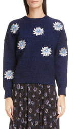 Kenzo Sequin Passion Flower Ribbed Sweater