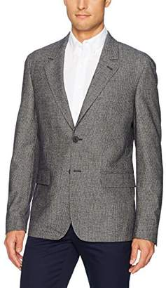 Lacoste Men's Middle Back Length Houndstooth Cotton/Wool Stretch Jacket