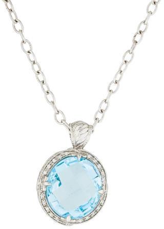 CharriolCharriol Blue Topaz & Diamond Pendant Necklace