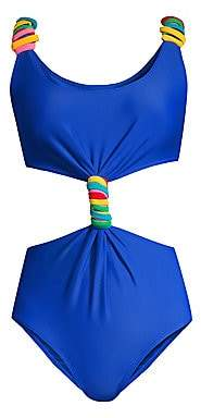 Paper London Women's Barbuda Twist-Front One-Piece Swimsuit