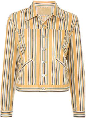 Hysteric Glamour striped denim jacket