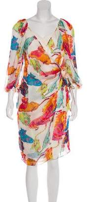 Ungaro Silk Animal Print Dress