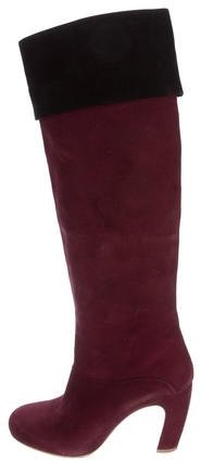 Miu MiuMiu Miu Suede Knee-High Boots