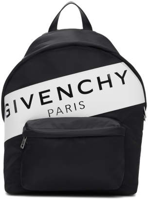 Givenchy Black Band Logo Urban Backpack