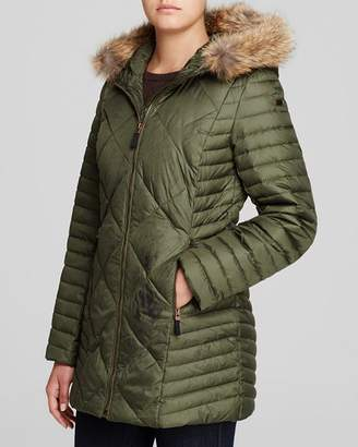Andrew Marc Kameron Fur Trim Puffer Coat